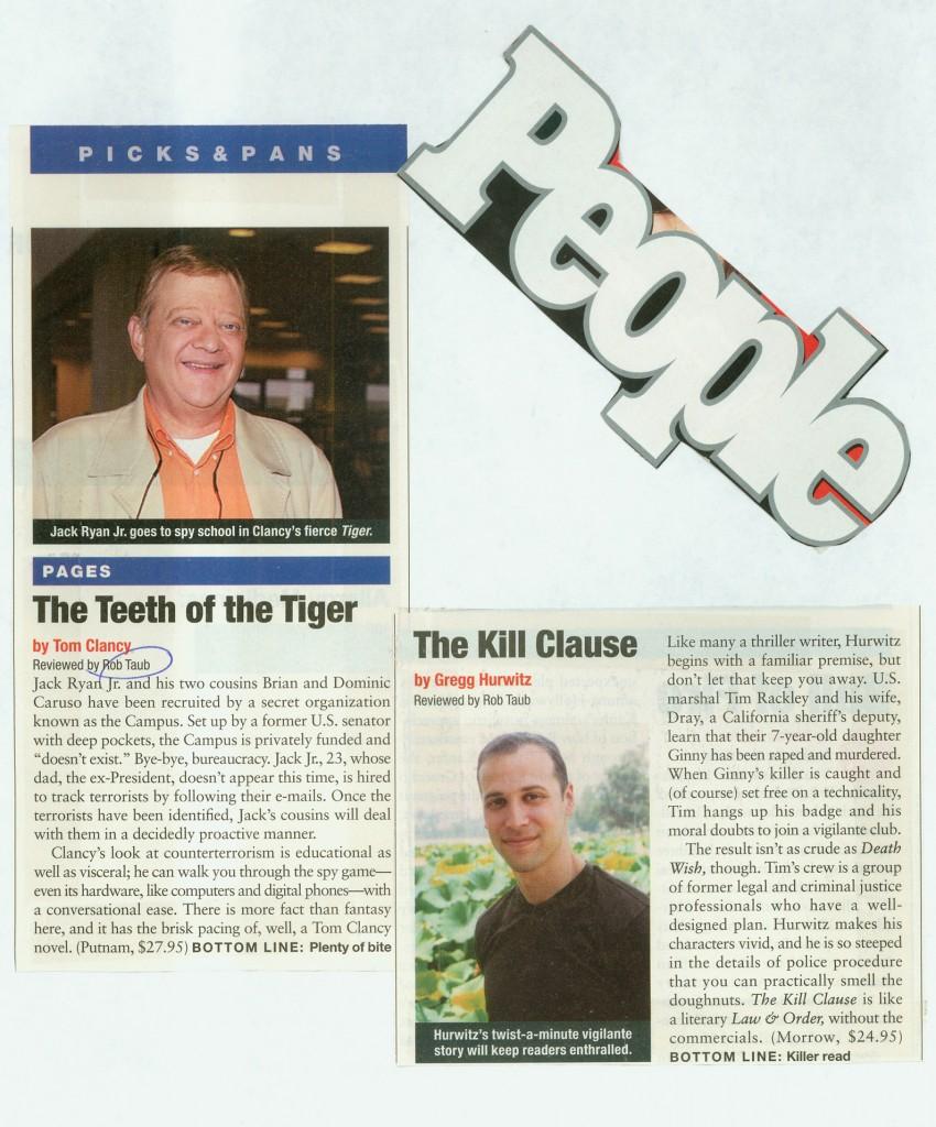 Book reviews (Tom Clancy / Greg Hurwitz)